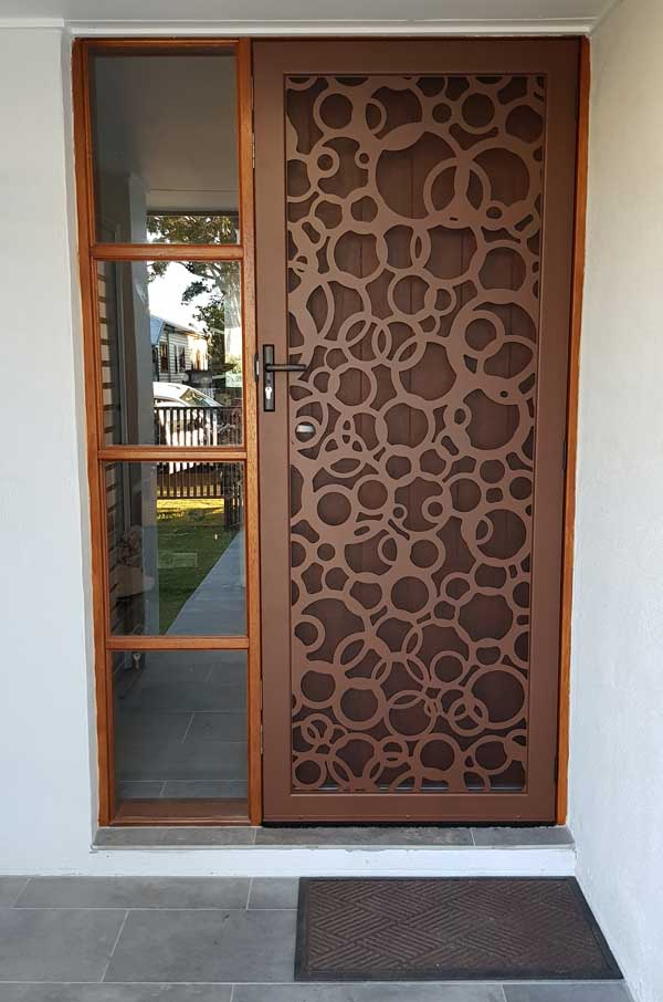 Laser cut decorative security screens for doors and windows for Custom design windows